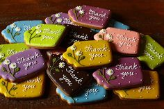thank you cookie tags Thank You Cookies, Fancy Cookies, Cute Cookies, Cupcake Cookies, Iced Sugar Cookies, Meringue Cookies, Sugar Dough, Cookie Tutorials, Homemade Biscuits