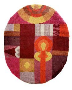 Sophie Taeuber-Arp - Ovale Komposition mit abstrakten Motiven, ca. 1922