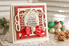 Category Archives: x 6 Matting Basics B Archives - Amazing Paper Grace - Becca Feeken: Cardmaking, Crafting & Diecut Tutorials Christmas Cards To Make, Christmas Wishes, Xmas, Magical Christmas, Handmade Christmas, Card Making Inspiration, Making Ideas, Becca Feeken Cards, Tattered Lace Cards