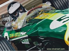 1967 - Jim Clark on Lotus 49 at Zandvoort Dutch GP by Colin Carter