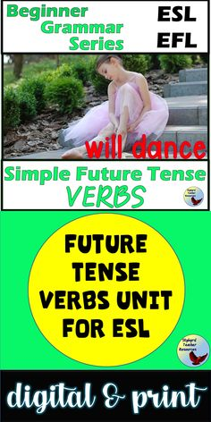 Spruce up your English Grammar Lessons with these Future Tense Verbs Activities.  These activities are geared toward older ESL Newcomers and ESL Beginners. #eslgrammarlessons #eslnewcomers #eslbeginners #esllessons Esl Lessons, Grammar Lessons, English Lessons, Learn English, Teaching English Grammar, English Language Learners, English Writing Exercises, Future Tense Verbs, Grammar Practice