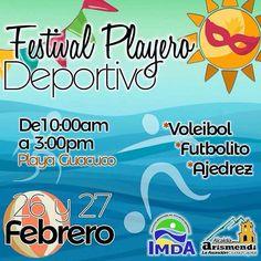 #CarnavalEnLaIsla  Disfruta de #Guacuco nuestra playa de #LaAsuncion con todas las actividades deportivas y recreativas que te tiene preparado @imda_arismendi #Carnaval #Asueto #vacaciones #festivalplayero #playaguacuco #margarita #ConPocoHacemosMas