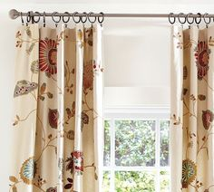 Great room drapes - I bought these and love them!  The colours are much more muted than the picture.
