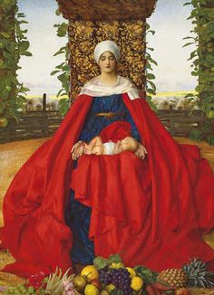"""Frank Cadogan Cowper (1877–1958), """"Our Lady of the Fruits of the Earth"""" by sofi01, via Flickr"""