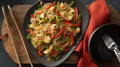These exotic stir-fried noodles come together quickly, taste great and won't break the bank!