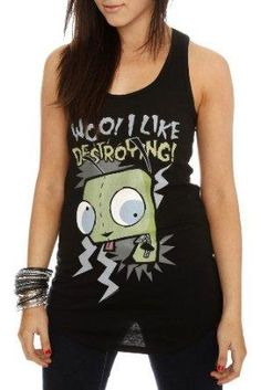 I found 'Invader Zim Gir Destroying Tank Top' on Wish, check it out!