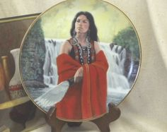"""Check out Vintage Hamilton 1990 Collection,""""White Rose"""" by David Wright, from the Noble American  Indian Women Plate Collection, #VB7144 on ckdesignsforyou"""