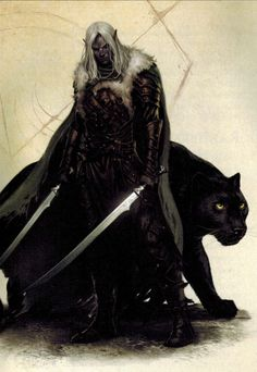 Drizzt Do'Urden - Dungeon Masters Guild | Dungeon Masters Guild << The reason I think drows are sexy, lol