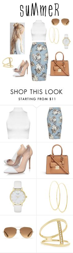 """Untitled #2213"" by stephstyle76 ❤ liked on Polyvore featuring WearAll, River Island, Gianvito Rossi, Michael Kors, Kate Spade, Lana, Stella & Dot and Sydney Evan"