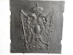 Ofenplatten mit dem Hohenzollern Adler im Hotel Platengarten iron #hohenzollern #irons