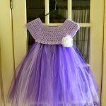 Kumaşla Örgü Kız Çocuk Elbise Modelleri ve Yapılışı - Mimuu.com Baby Sweaters, Toddler Dress, The Dress, Tulle, Flower Girl Dresses, Summer Dresses, Wedding Dresses, Crochet, Skirts