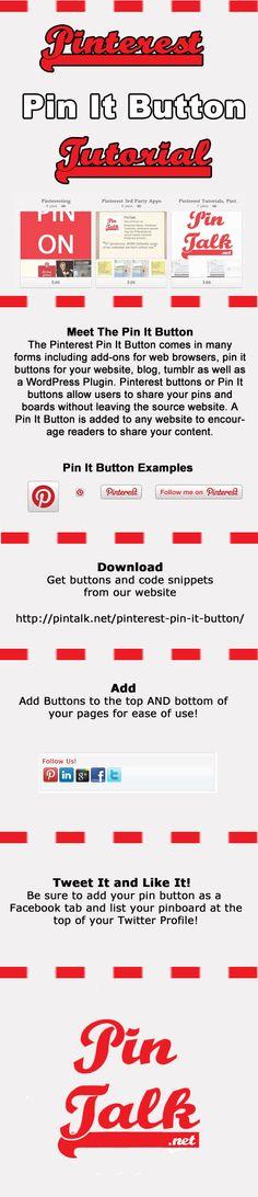 Pinterest Pin It Button Infographic via @PinTalk #SocialMedia