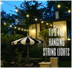 How To Hang Outdoor String Lights Prepossessing How To Hang Patio String Lights  Pinterest  Patio String Lights Design Decoration