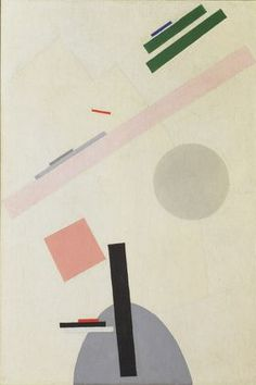 I dont usually like abstract, but this is the first I've liked^_^ probably the soft pink and tilting rectangles. Kazimir Malevich. Suprematist Painting. 1916-17