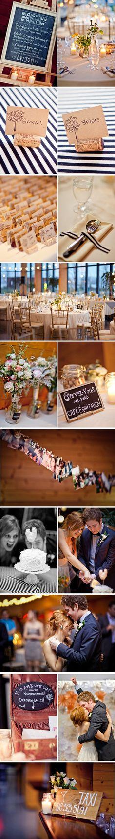 un joli mariage : coup de coeur pour les marque-places simples et jolis