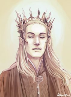 Oh my gosh! This is exACtly how I imagined Thranduil looked in the book! By felixavenier on deviantart