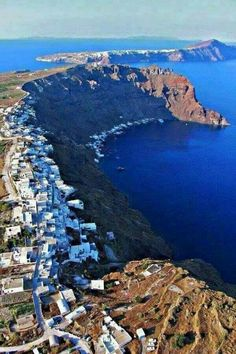 Santorini, view from above.