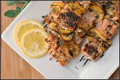 Salmon kebabs. Kebabs are a terrible idea for salmon but the marinade is delish!