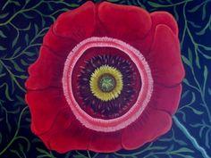 Papavero-Italian Poppy, painting by artist Catherine Nolin