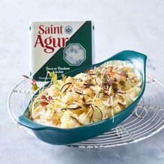 Saint Agur cauliflower gratin Cauliflower Gratin, Saints, Bread, Food, Breads, Bakeries, Meals