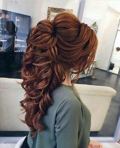 Romantic half up half down hairstyle ideas - wedding hairstyles - . - Romantic half up half down hairstyle ideas – wedding hairstyles – - Step By Step Hairstyles, Easy Hairstyles, Hairstyle Ideas, Hairstyles 2018, Beautiful Hairstyles, Casual Hairstyles, Hair Ideas, Ideas Románticas, Black Hairstyles