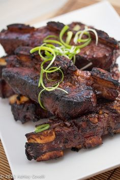 Sokalbi Gui (Korean Barbecued Beef Short Ribs) by bigflavortinykitchen #Beef #Short_Ribs #Korean