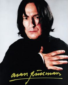 photo-shoot of Alan Rickman as Severus Snape in the Harry Potter series of films.