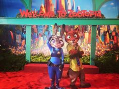 Nick Wilde and Judy Hopps at the ‪#‎Zootopia‬ premiere!