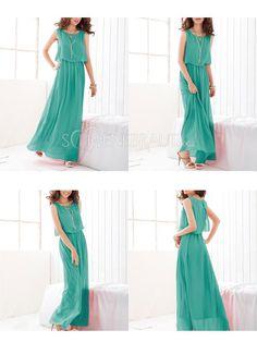 Bohemian Sommerkleid Chiffon lange Kleider reine süße Farbe realen Probe Sommer Mode 2015 [#UD9105] - schoenebraut.com