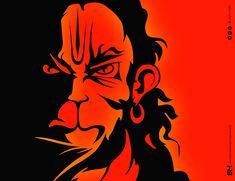 Lord Hanuman Vector Illustration By Ruby Huma on Behance Hanuman Jayanthi, Hanuman Pics, Hanuman Images, Lord Krishna Images, Hanuman Tattoo, Shri Ram Wallpaper, Lord Shiva Hd Wallpaper, Hanuman Ji Wallpapers, Ganesha Art