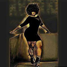 Ideas for drawing woman curves black art Art Black Love, Sexy Black Art, Black Girl Art, My Black Is Beautiful, Black Girls Rock, Black Girl Magic, Art Girl, Beautiful Artwork, Black Art Painting