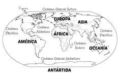Menta Más Chocolate - RECURSOS PARA EDUCACIÓN INFANTIL: Mapamundi OCEANOS y CONTINENTES