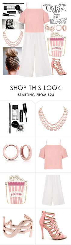 """""""Pretty in Pink"""" by oliviajharvey ❤ liked on Polyvore featuring Bobbi Brown Cosmetics, Bling Jewelry, T By Alexander Wang, MANGO and Yves Saint Laurent"""