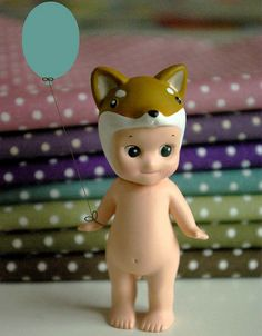 dots fabric, sonny angel