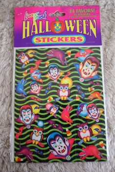 Lisa Frank Vintage Halloween Vampire Owls and Bats Party Favors 72 Stickers
