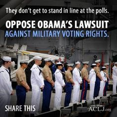 They can't stand in line at the polls, but they deserve to vote and have a say in the country they are serving!