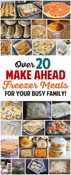 Ahead Freezer Meals Recipes for Your Busy Family! Over 20 awesome freezer meals for busy families. I need to do this so bad!Over 20 awesome freezer meals for busy families. I need to do this so bad! Plan Ahead Meals, Make Ahead Freezer Meals, Freezer Cooking, Quick Meals, Cooking Recipes, Healthy Recipes, Freezer Recipes, Freezable Meals, Meals To Freeze