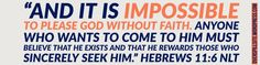 Abel brought a gift to God in faith. Cain didn't. Hebrews 11, Verse Of The Day, Believe, Bible, Bring It On, Faith, God, Thoughts, Gifts