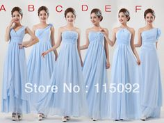 Find More Bridesmaid Dresses Information about mix different style floor length vestidos simples de fiesta sexy chiffon light sky blue dress long for bridesmaid dresses W893,High Quality light blue prom dress,China light green bridesmaid dress Suppliers, Cheap light health from ISA'S HAPPY TIME on Aliexpress.com