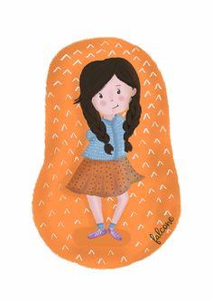 shy Illustration of Carolina Falcone Illustrations, Illustration, Character Illustration, Illustrators, Drawings