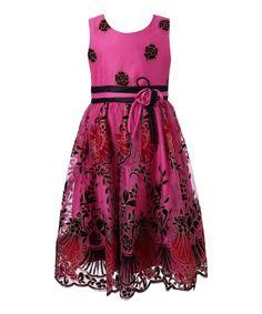 Fuchsia & Black Floral Dress - Toddler & Girls by Richie House #zulily #zulilyfinds