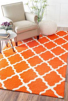 nuLOOM Orange Fiona indoor/outdoor area rug