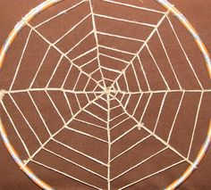 Hula Hoop Spider Web... love the scale!!!
