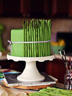 How to Make a Fondant Asparagus Cake {a Tutorial}