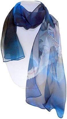 Ladies Silver Splatter Foiled Snakeskin Scarf Nice Quality Gift Idea
