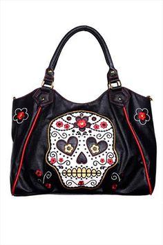 Banned Tattoo Skull Gothic Pin Up Rockabilly Henkeltasche Handtasche