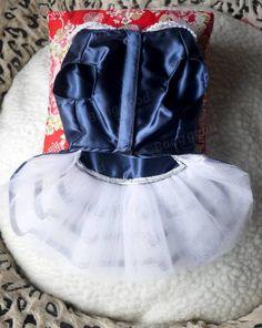 Blu navy pannello esterno del vestito di estate del cane vestito cucciolo principessa bow-knot pannello esterno del cane su Banggood