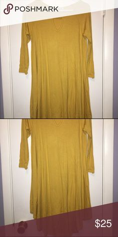 Keyhole Mustard Yellow Tunic Mustard Yellow tunic.  Slinky material.  Length is right above the knees.  New with tags! Lollipop Star Tops Tunics