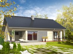 projekt Tori III G1 WRC1969 Construction, Gazebo, House Plans, Garage Doors, Backyard, Architecture, Outdoor Decor, Home Decor, Houses