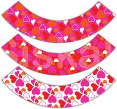 CUPCAKE WRAPPERS Printable  Valentine's Day Party by Siskale